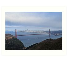 Sailing Under The Golden Gate Art Print