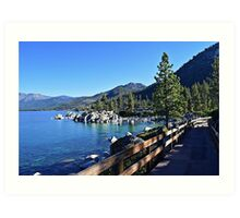 Sand Harbor Boardwalk Art Print