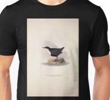 John Gould The Birds of Europe 1837 V1 V5 084 Black Bellied Water Ouzel Unisex T-Shirt