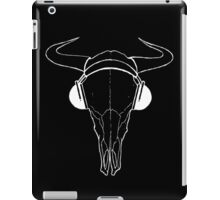 Skull and Phones (whiteline) iPad Case/Skin