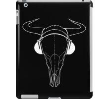 Skull and Phones (whiteline) iPad Case/Skin