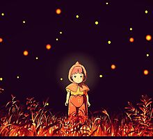 grave of the fireflies (la tumba de las luciérnagas) by woolfygeorge