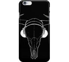 Skull and Phones (whiteline) iPhone Case/Skin