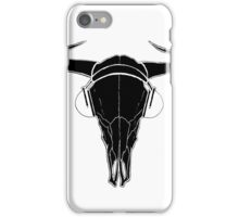 Skull and Phones (blackline) iPhone Case/Skin