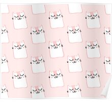 Cute pink kitty print Poster
