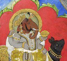 Ganesha Riding Mooshika by UmaJ