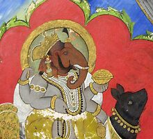 Ganesha Riding Mooshika by UmaJ