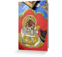 Ganesha Riding Mooshika Greeting Card