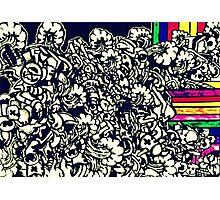 Robot rainbow flow Photographic Print