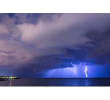 lightening in the sea  Photographic Print