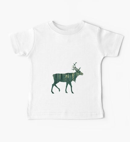 Deer and Abstract Forest Landscape 2 Baby Tee