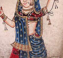 Indian Dancer, Udaipur Artwork by UmaJ