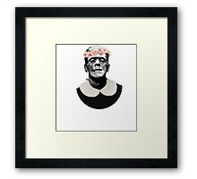 Frankenstein's cute monster Framed Print