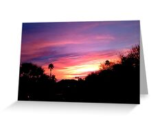 SUNRISE OVER THE DESERT WITH GOLDEN SKY Greeting Card