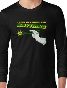I Can Accomplish Anything - Green and Yellow Long Sleeve T-Shirt