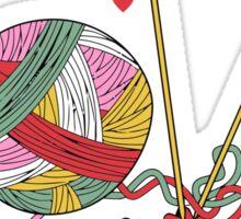 Love yarn knitting crocheting Sticker
