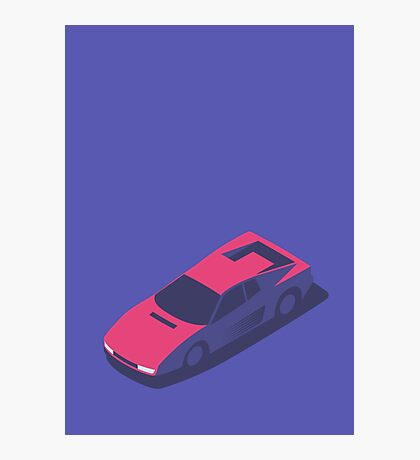 Ferrari Testarossa Isometric (Small Purple) Photographic Print