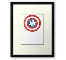 SuperHero Captain America Autism Framed Print