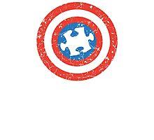 SuperHero Captain America Autism Photographic Print