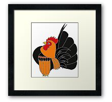 Gold Partridge Serama Framed Print