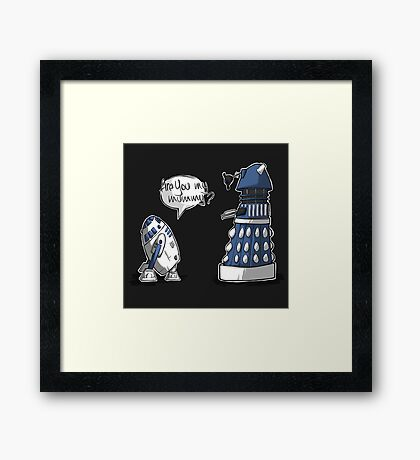 Are you my mummy? - BLUE version Framed Print