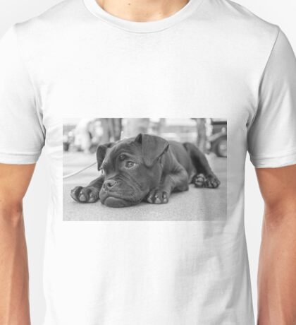 Tired pug puppy Unisex T-Shirt