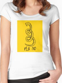 Don't Tread On Me (Funny Parody Gadsden Snake) Women's Fitted Scoop T-Shirt