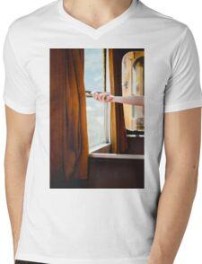 Old train Mens V-Neck T-Shirt