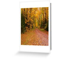 Yellow Walkway Greeting Card