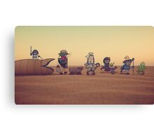 Getting along with the locals Canvas Print