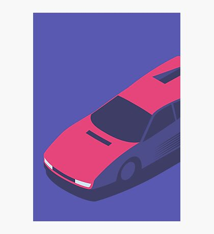 Ferrari Testarossa Isometric (Large Purple) Photographic Print