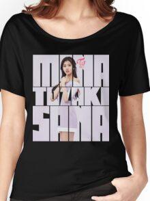 TWICE 'TT' Sana Typography Women's Relaxed Fit T-Shirt