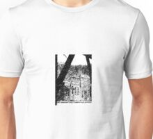 Old Western Town, B&W Unisex T-Shirt