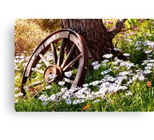 At Rest In The Garden Canvas Print