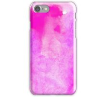 Bright pink watercolor iPhone Case/Skin