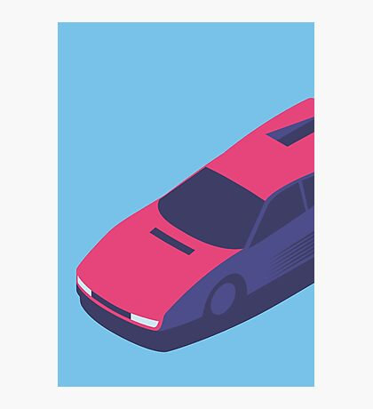 Ferrari Testarossa Isometric (Large Blue) Photographic Print