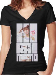 TWICE 'TT' Momo Typography Women's Fitted V-Neck T-Shirt