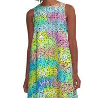 A pile of colorful joy A-Line Dress