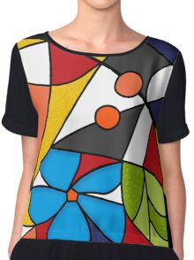 Abstraction. Curves and bends.  Chiffon Top