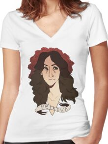 petrova doppelgangers Women's Fitted V-Neck T-Shirt