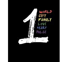 One pulse - World City Family Love Heart T-shirt Pride Photographic Print