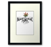 Earthy Mary Jane Roots Framed Print