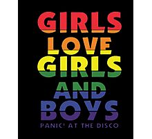 Girls Girls Boys Pride T Shirt Photographic Print