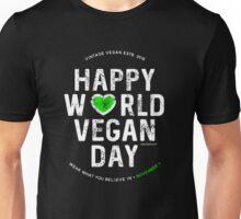 Happy World Vegan Day November 1st Unisex T-Shirt