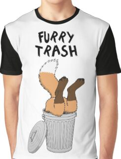 Furry Trash - Red Fox Graphic T-Shirt