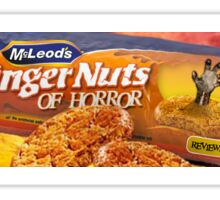 GINGER NUTS OF HORROR BISCUIT LOGO  Sticker
