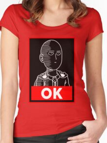 Saitama Ok Women's Fitted Scoop T-Shirt