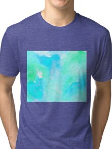 Aquamarine watercolor Tri-blend T-Shirt