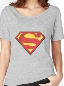superman grey Women's Relaxed Fit T-Shirt