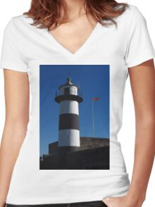 Southsea Castle Lighthouse Women's Fitted V-Neck T-Shirt